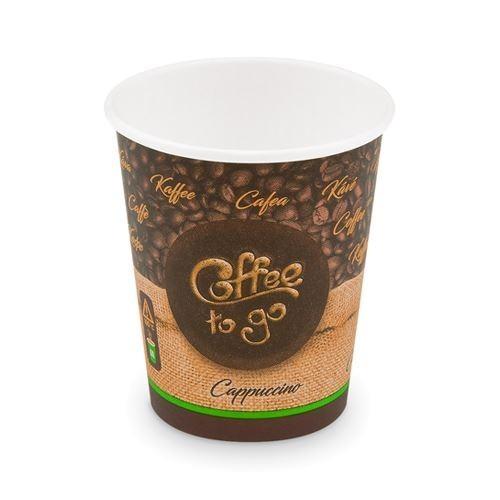 "BIO Einweg-Kaffeebecher Coffee to go ""M"" 280ml - 50 Stück"