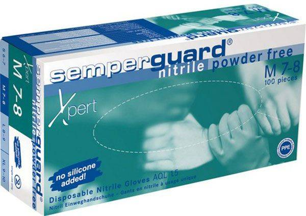 "Einweghandschuh Semperguard ""Nitril Xpert"", blau ungepudert"