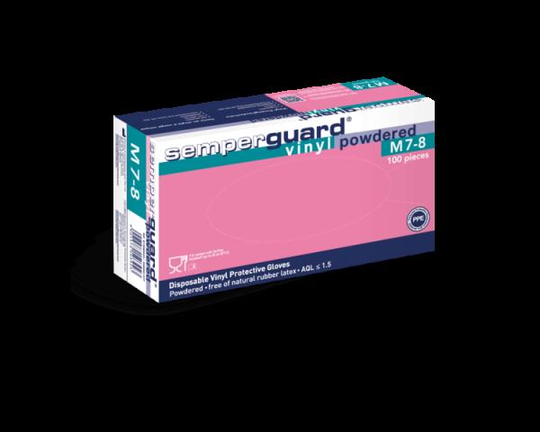 Semperguard® Vinyl Einweghandschuhe gepudert 100er Box