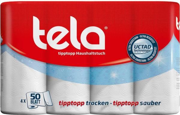 Haushaltrolle TELA tipptopp 4er Pack