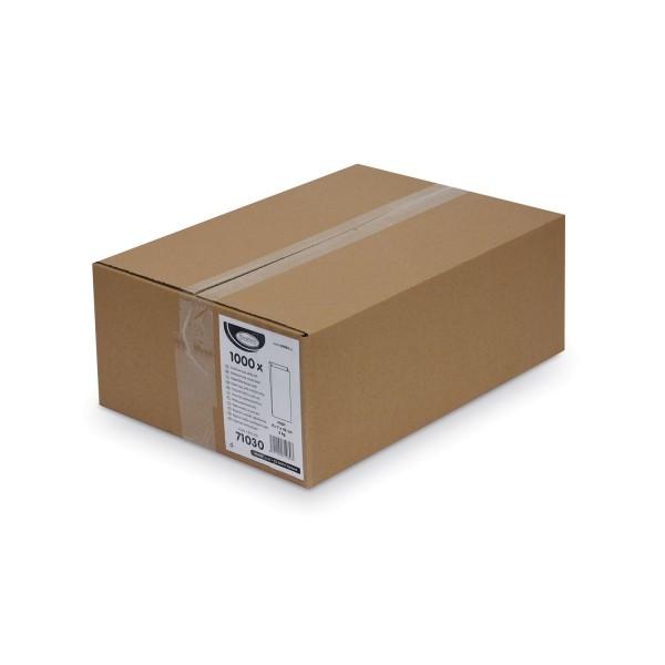 Papier Faltenbeutel weiß 3 kg (15+7 x 42 cm) [1000 Stück]