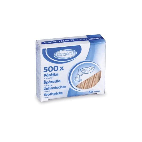 Holz-Zahnstocher flach 60 mm [500 Stück]