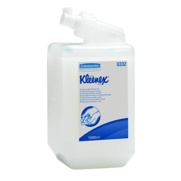 KLEENEX® Haar- und Körpershampoo 6 x 1 Liter Flasche im Karton