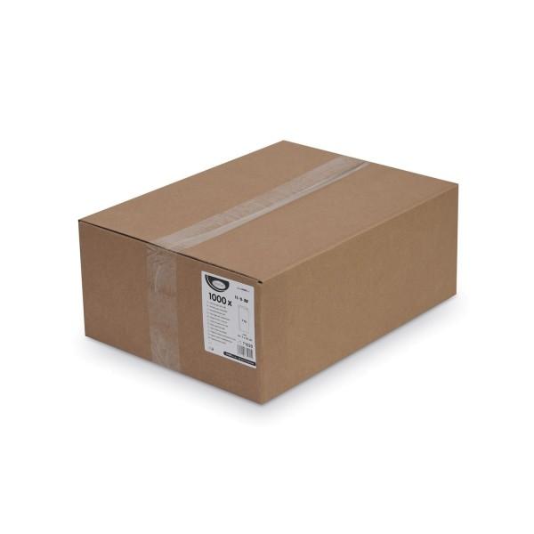 Papier Faltenbeutel weiß 2 kg (14+7 x 32 cm) [1000 Stück]