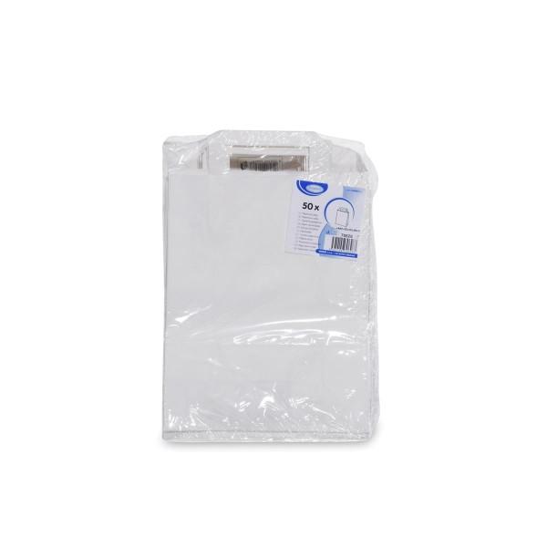 Papiertragetaschen 22+10 x 28 cm weiß [50 Stück]