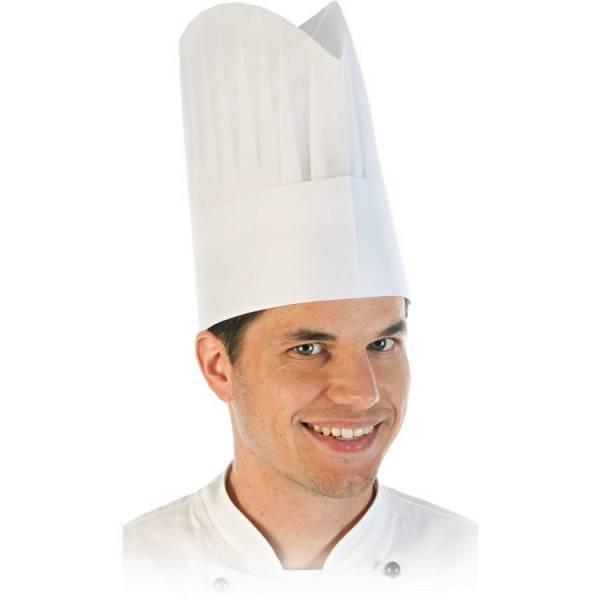 Kochmütze Excellent aus Vlies weiss 24cm