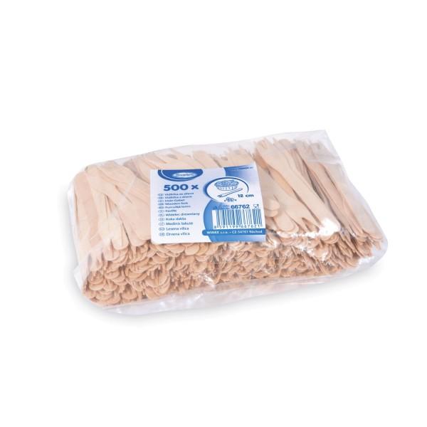 Holz-Snack-Gabel 12 cm [500 Stück]