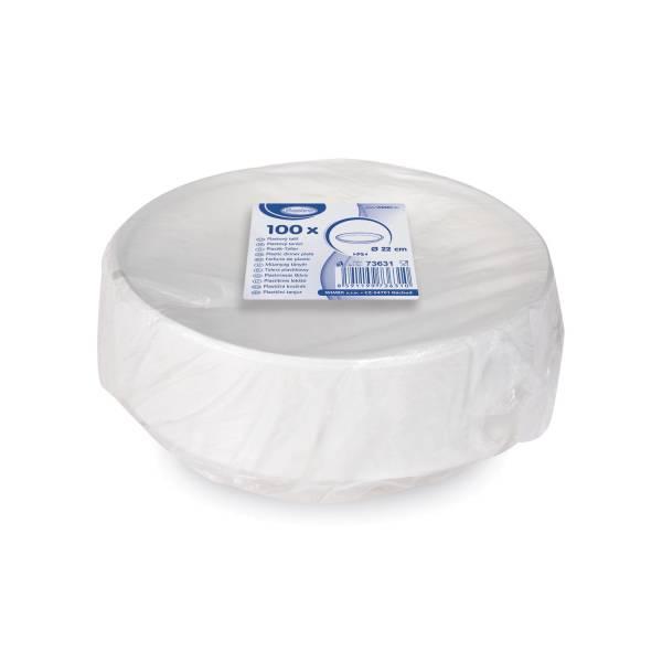 Teller weiß (PS) Ø 22 cm [100 Stück]