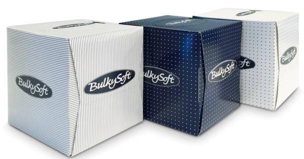 BulkySoft Kosmetiktuchbox-Würfel 90 Tücher 2-lagig