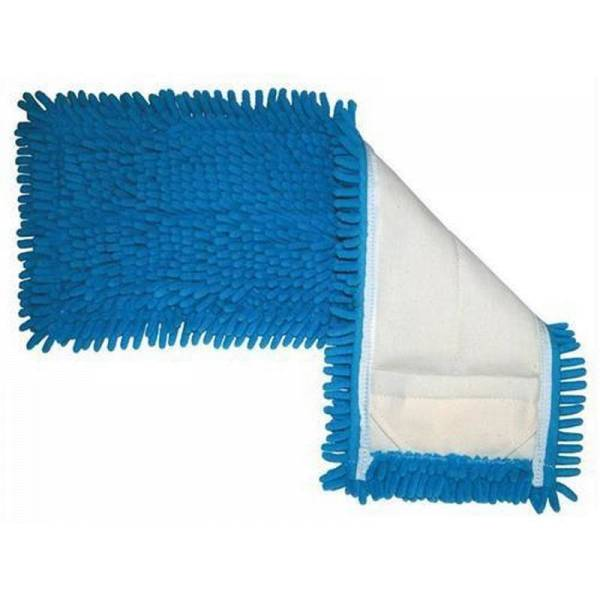 AlpineX Microfaser Chenillemopp Professional - blau/rot - 40/50cm