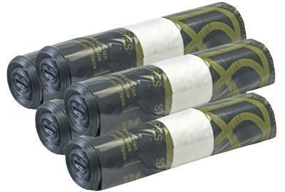 Kehrichtsäcke mit Zugband 35 L schwarz