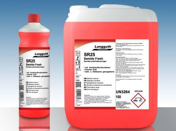 SR25 SAMIDO FRESH Sanitärunterhaltsreiniger 10 Liter