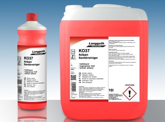 KO37 4CLEAN Sanitär Reiniger 10L