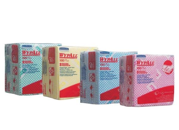 Wypall® X80 Plus Wischtücher - Viertelgefaltet