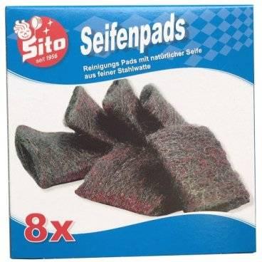 Sito Stahlwolle Seifenpads im 8er Pack (7001052)