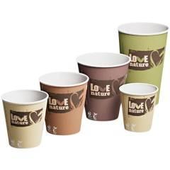 Coffee-to-go Becher Love nature PLA beschichtet
