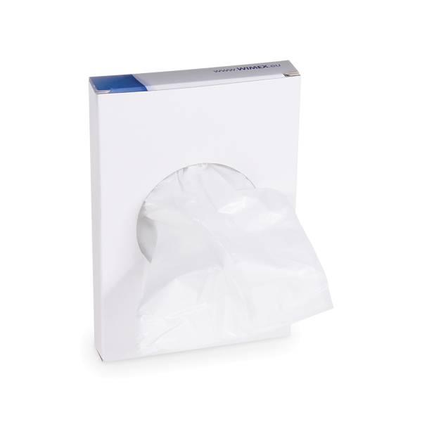 Hygienebeutel Nachfüllbox - weiß (HDPE) 8+6 x 25 cm (30 Beutel )